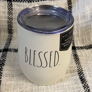 Blessed Insulated Stainless Steel Wine Glass NEW